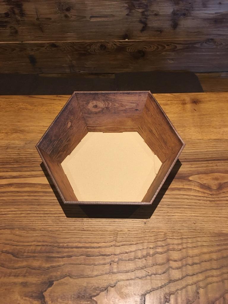 6eck Korb 1 klein Maße: L:195xB:230xH:60/105mm