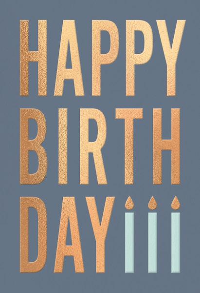 Doppelkarte Fino • Happy Birthday