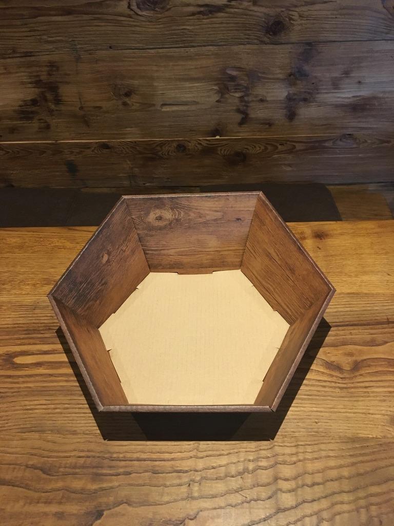 6eck Korb 2 mittel Maße: L=245xB=295xH=75/130 mm