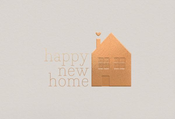 Doppelkarte Fino • Happy new home