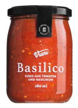 Sugo Basilico aus Tomaten und Basilikum 280 ml